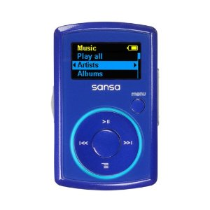 SanDisk 2GB Clip MP3 Player - Blue (SDMX11R-002GB-A70T)