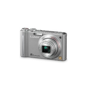 Panasonic Lumix DMC-ZR1 12.1MP Digital Camera with 8x POWER Optical Image Stabilized Zoom and 2.7 inch LCD (Silver)