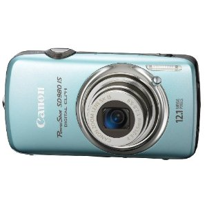 Canon PowerShot SD980IS 12MP Digital Camera with 5x Ultra Wide Angle Optical Image Stabilized Zoom and 3-inch LCD (Blue)