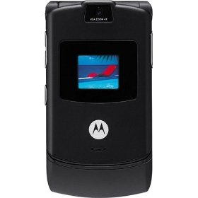 Motorola RAZR V3 Unlocked Phone with Camera, and Video Player--U.S. Version with Warranty (Black)