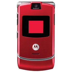 Motorola RAZR V3 Unlocked Phone with Quad-Band GSM, Camera and Video Player--International Version with Warranty (Cherry Red)