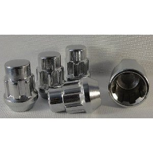 Chrome Wheel Lock Kit Set of 4 Fitment for Most Scion Vehicles
