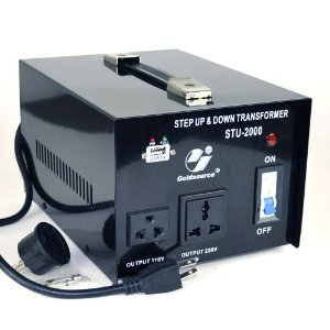 Goldsource� STU-2000 Step Up and Down Voltage Converter Transformer - AC 110/220 V - 2000 Watt with 5 Volt USB output