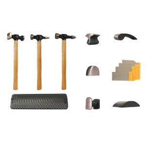 13pc Hammer & Dolly Set with Wood Handles