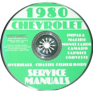 1980 Corvette Shop and Service Manual on CD