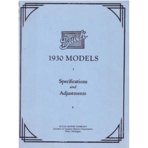 1930 BUICK Full Line Service Shop Repair Manual Book