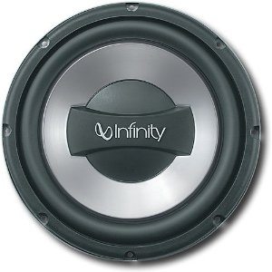 Infinity Reference 1052w 10-Inch Dual Voice Coil Subwoofer (Silver/Black)