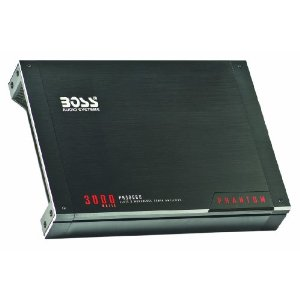 Boss PH3000D Phantom 3000 Watt Class D Monoblock Amplifier with Remote