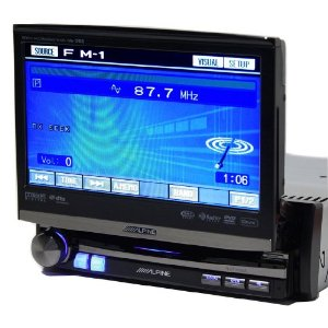 Alpine IVA-D106 1-DIN DVD/CD/MP3/WMA/DivX Receiver/AV Head Unit (Black)