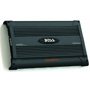 BOSS CW1250 CHAOS WIRED 2500 Watts 2-Channel Mosfet Power Amplifier with Subwoofer Level Control