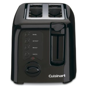 Cuisinart CPT-120BK Compact Cool-Touch 2-Slice Toaster, Black