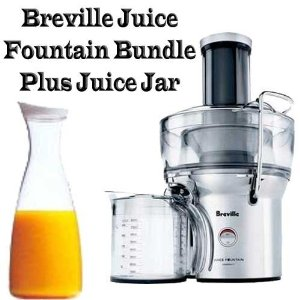 Breville BJE200XL Juice Fountain Bundle Plus Juice Jar With White Lid
