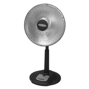 Soleus Air HR1-08R-21 Oscillating Reflective Heater, Silver, Black