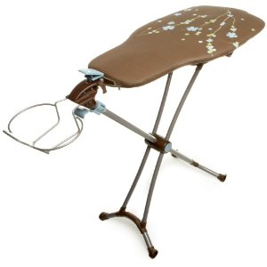 Homz 4730001 Revolution 360 Ironing Table with Rotating Garment-Shaped Board, Cattails
