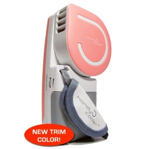 Handy Cooler - World's first Evaporative Personal Air Cooler / Cooling Fan that is hand held! (Battery-operatable) PINK TRIM v2.0