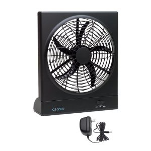 O2Cool 1078 Indoor/Outdoor Battery/AC-Powered 10-Inch Portable Fan