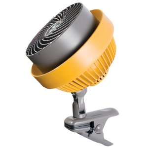 Vornado 580HD Heavy-Duty Shop Fan Clip-On Air Circulator, Yellow