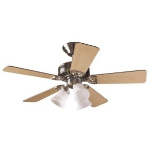Hunter 20431 Beacon Hill Three-Light 42-Inch Five-Blade Ceiling Fan, Brushed Nickel with Frosted Globes