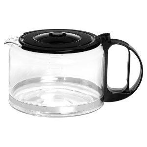 Capresso 4451.01 10-Cup Glass Replacement Carafe with Lid for Capresso Coffeemaker, Black