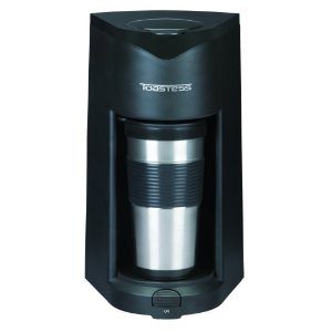 Toastess TFC-25T Silhouette 800-Watt Personal-Size Coffeemaker with Stainless-Steel Travel Mug