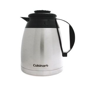 Cuisinart DTC-975TC12BSS 12-Cup Stainless Thermal Carafe with lid, Black