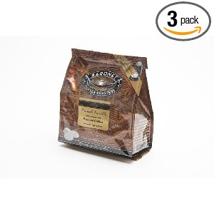 Baronet Coffee Decaf French Vanilla (140 g), 18-Count Coffee Pods (Pack of 3)