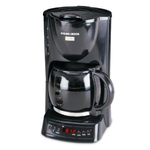 Black & Decker DCM1400B Cafe Noir 10-Cup Programmable Coffeemaker, Black
