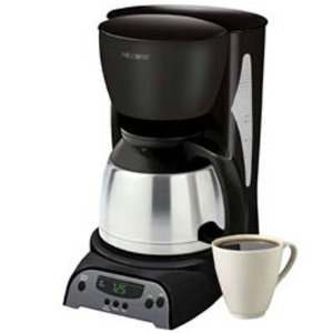 Mr. Coffee DRTX85 8-Cup Programmable Coffeemaker with Thermal Carafe, Black and Stainless Steel