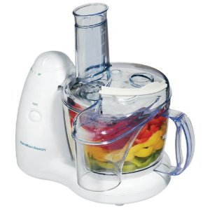 Hamilton Beach 70550RL PrepStar Food Processor with Bonus Chill Lid