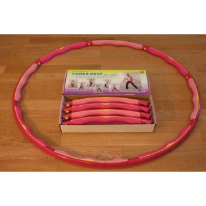 Weighted Sports Hula Hoop for Weight Loss - Power Hoop 4B 4 lb. With or Without Case
