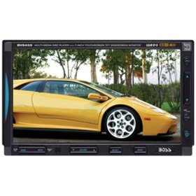 Boss Audio Systems BV9455 In-Dash Double-DIN DVD/MP3/CD AM/FM Receiver with 7 inch Widescreen Touchscreen TFT Monitor with USB Port and SD Memory Card Ports