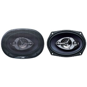 JVC CS-V6945 In-Vehicle 6 x 9-Inch 4-Way Coaxial Speaker (Single, Blue)