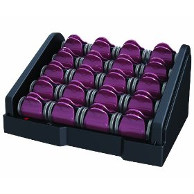 Remington H-2050 T-Studio Ceramic Heated Clip Hair Rollers with Tourmaline