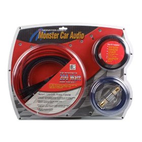 Monster Cable S-B BAP200 200-Watt Power Amplifier Connection Kit (Blue and Silver)