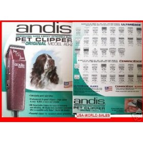 ANDIS AG2 AG-2 ANIMAL/PET/DOG/CATTLE CLIPPER PROFESSIONAL FITS OSTER A5