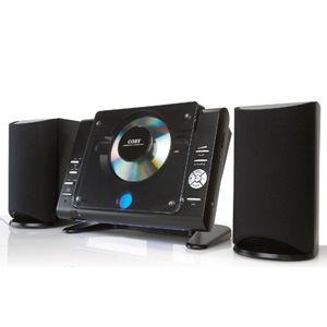 Coby cxcd377 black stereo system cd 20watt remote