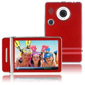 Ematic 3.0 Inches Touch Screen Color MP3 Video Player with Built-in 5MP Digital Camera with Video Recording, FM Radio & Speaker 8 GB RED