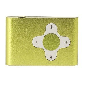 4GB USB Clip Style MP3 Player (Lime Green)