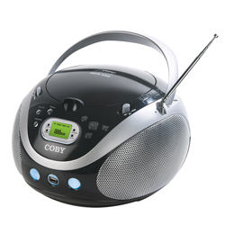Coby mpcd471 boombox mp3 cd amfm usb