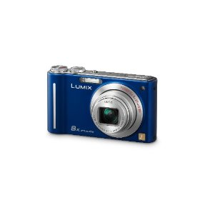 Panasonic Lumix DMC-ZR1 12.1MP Digital Camera with 8x POWER Optical Image Stabilized Zoom and 2.7 inch LCD (Blue)
