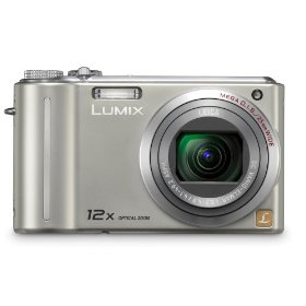 Panasonic Lumix DMC-ZS1 10MP Digital Camera with 12x Wide Angle MEGA Optical Image Stabilized Zoom and 2.7 inch LCD (Silver)