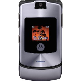 Motorola RAZR V3i Unlocked Phone with Camera, MP3/Video Player, and MicroSD Slot--International Version with No Warranty (Silver/Gray)