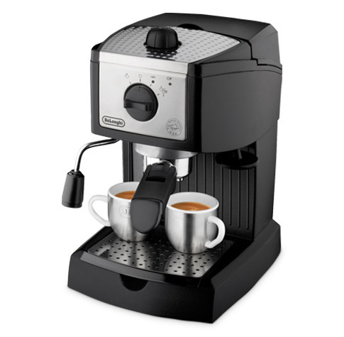 Delonghi ec155 black silver espresso machine 1100w
