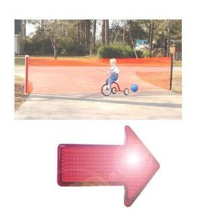 Kidkusion 4725 Kid Safe 25 Foot Driveway Guard With Free LED Safety Reflector Light