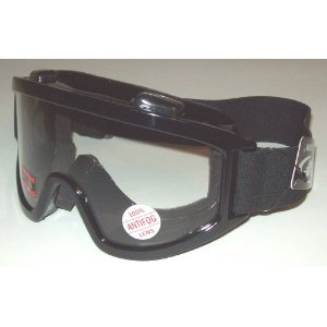 Goggles Adult Motocross ATV Dirt Bike Mx Motorcycle With Clear 2mm Thick PC Lens These also Fit Over Glasses OTG