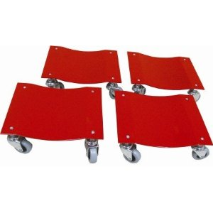 Ignition Garage Products 4 Piece Dolly Set Set of 4 - Fits most ATVs, Golf Carts, and Lawnmowers.