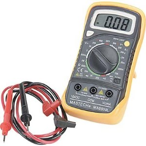 Mastech M as830L Digital Pocket Multimeter - 6 Function