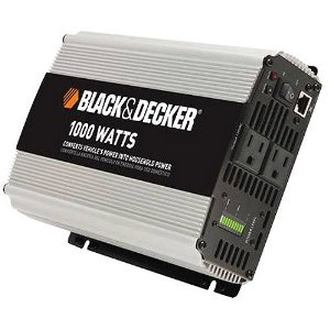 Black & Decker VEC049DCB 1,000 Watt D/C To A/C Power Inverter With Power Level Meter