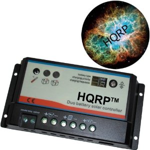 HQRP 10A Solar Panel Two Battery Charge Controller / Regulator 12V / 24V 10 Amp 150W for RV Caravan Boat plus HQRP Mousepad