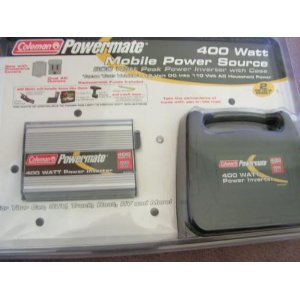Coleman 400 Watt Power Inverter - 800 Watt Peak Power In Case #PMP400C